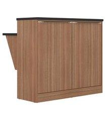 balcão multimóveis calábria 2 portas abrir com mesa nogueira