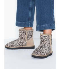 duffy leather warm boots flat boots leopard