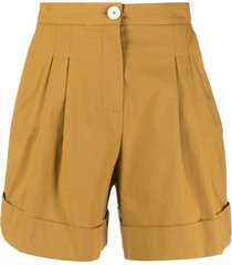 alysi wide-leg tailored shorts - neutrals