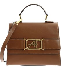 alberta ferretti - handbag with logo