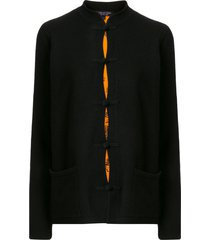 shanghai tang chinoiserie tang-style cardigan - black