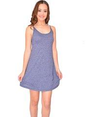 vestido curto urban lady com decote costas azul