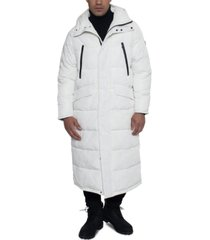 sean john men's full-length hooded puffer jacket