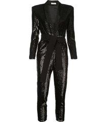 a.l.c. kieran sequin jumpsuit - black