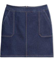 charter club riviera denim skirt, created for macy's