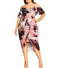 plus size women's city chic in love floral dress