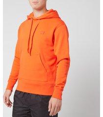 acne studios men's ferris face hoodie - dark orange - xl
