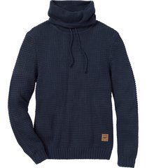 maglione a collo alto regular fit (blu) - john baner jeanswear