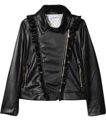 simonetta biker jacket in synthetic fiber