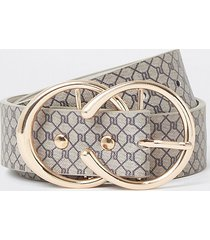 river island womens brown ri monogram belt
