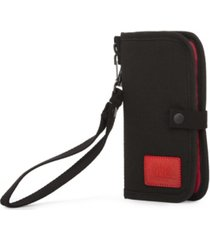 manhattan portage waxed nylon continental wallet