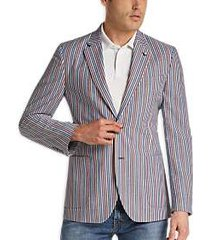 nautica multicolor stripe seersucker sport coat
