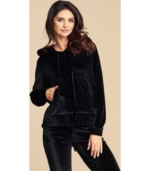 bluza dresowa black long