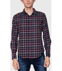 camisa ellus multicolor - calce regular