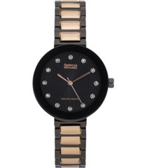 american exchange ladies genuine diamond collection watch, 34mm