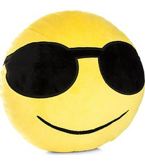 sunglasses smiling emoji accent cushion