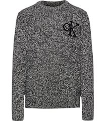 ck monogram sweater pullover grijs calvin klein