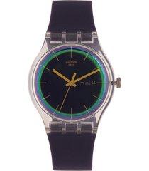 reloj morado swatch