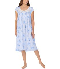 eileen west lace-trim floral-print waltz nightgown