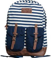 mc2 saint barth blue striped canvas backpack