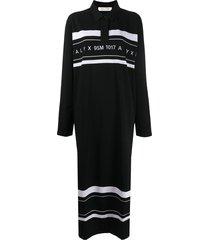 1017 alyx 9sm logo print oversized polo shirt - black