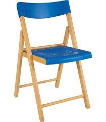 cadeira potenza verniz c/ azul tramontina
