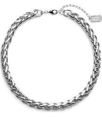 women's karine sultan braided link collar necklace