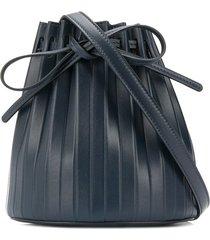 mansur gavriel pleated bucket bag - blue