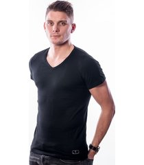 ten cate men t-shirt v-neck black two pack (30870)