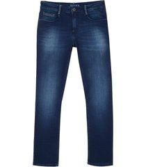 calça dudalina denim malha dark blue masculina (jeans escuro, 50)
