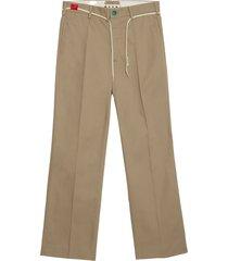 cotton twill straight leg broeken