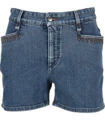 chloe denim shorts