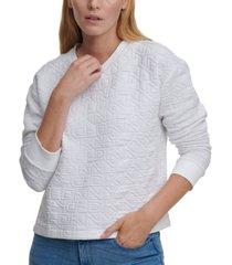 dkny logo-stitched sweatshirt