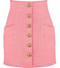 balmain tweed mini-skirt
