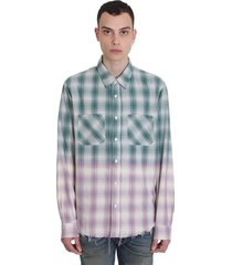 amiri shirt in green cotton
