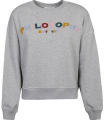 philosophy di lorenzo serafini logo embroidered sweatshirt