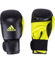 luvas de boxe adidas power 100 smu colors - 14 oz - adulto - preto/amarelo fluor