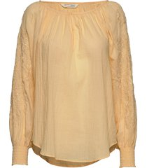 independent blouse blouse lange mouwen geel odd molly