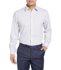 men's nordstrom men's shop tech-smart traditional fit plaid stretch dress shirt