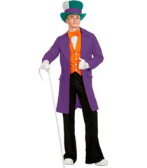 buyseasons men's purple electric mad hatter adult costume