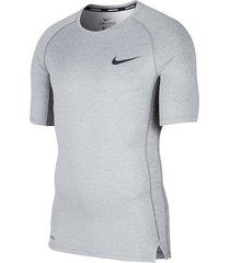 camiseta nike pro para hombre - gris