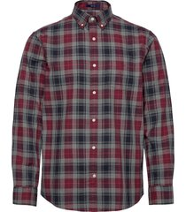 d1.melange herringbon check reg bd overhemd casual rood gant