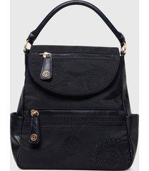 mochila positano negro desigual