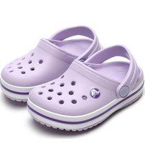 babuche crocs menina crocband clog k roxo