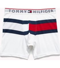 tommy hilfiger men's flag boxer brief white - l