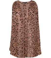 regata rosa chá leopard estampado feminina (leopard print, gg)