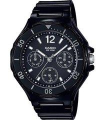 reloj analógico mujer casio lrw-250h-1a1 cronógrafo - negro