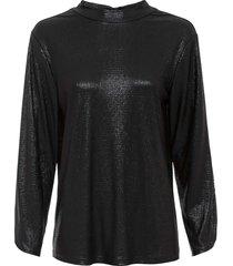 maglia glitterata con scollo sulla schiena (nero) - rainbow