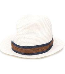 ermenegildo zegna woven straw hat - white