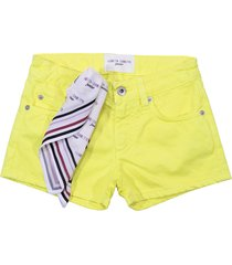 alberta ferretti yellow denim shorts